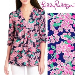 Lilly Pulitzer Cherry Picker Tunic Top